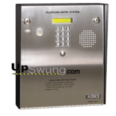Doorking 1833 PC Programmable Telephone Entry System for Apartment/ Offices with 3000 memory, Stainless Steel Surface Mount 1833-080