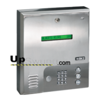 Doorking 1835 PC Programmable Telephone Entry System- Surface Mount,  Stainless Steel 1835-080