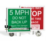 Doorking Warning Sign Lighted /Use with stand alone Doorking Spike Systems 1615-080