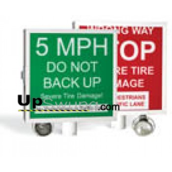 Doorking Warning Sign Lighted /Use with 1603 Barrier and Spike System 1615-081