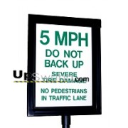Guardian 1410 Warning Sign – Lighted, Two Sided