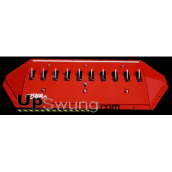Upswung  Package Traffic Spikes Surface Mount Heavy Duty Load for Parking lots, HOA's, RV Camps, Campgrounds and Industrial use. Kit includes 9 feet of Surface Spike Sections, Epoxy for easy implant,Beveled Endcaps and Signage,