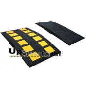 "Guardian 16300 Mini V Speed Hump Section 35.5"" x 19.5"" x 2.1"" Yellow (includes installation hardware)"
