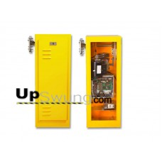 Linear BGU 115V or 230V Barrier Gate Operator.  Yellow or White powdercoated available. 10,12 or 14 foot counter-balanced gate arm.