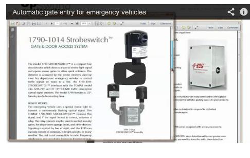 siren and strobe sensors